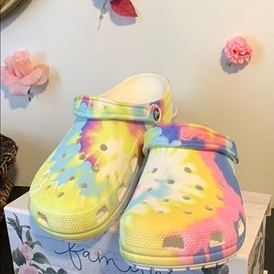 New tiedye crocs, got the wrong size so im selling